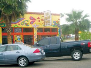 Front of restaurant facing W. Van Buren St.
