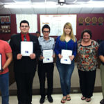 Members of the UIL Team received certificates from the board