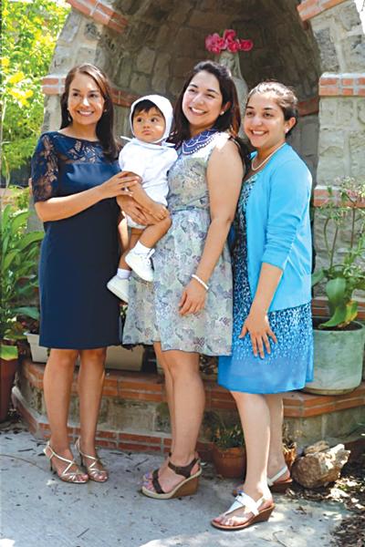 The Villarreals have three daughters including Dr. Maria Villarreal, DDS, Attorney Monica Villarreal and Medical Student Veronica Villarreal shown at grandson Hugo's recent baptism.