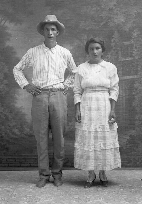 This portrait of an early local, Roman S. Hernandez and unnamed woman, gives us an idea of how people dressed in the early part of the last century in the burgeoning township of La Feria. Photo: Robert Runyon Photograph Collection/The Center for American History and General Libraries, University of Texas at Austin