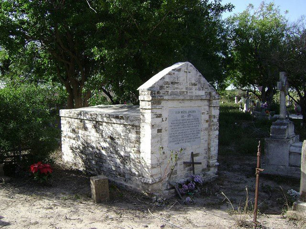 Juan Miguel Longoria's grave at the Longoria Cemetary located in Bluetown. Photo: Google images