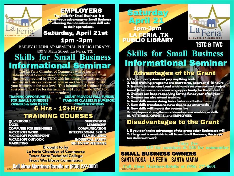Chamber to Hold Business Development Workshop | La Feria News